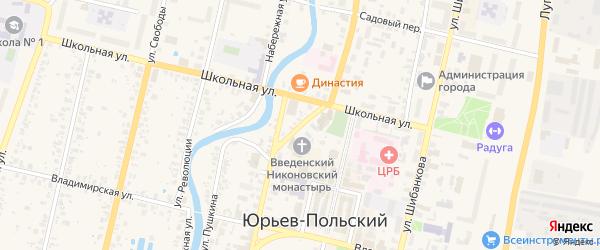 Каланчевский переулок на карте Юрьева-Польского с номерами домов