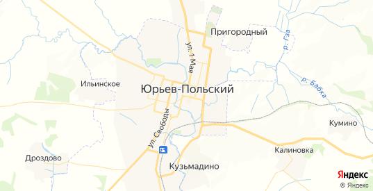 Карта Юрьева-Польского с улицами и домами подробная. Показать со спутника номера домов онлайн
