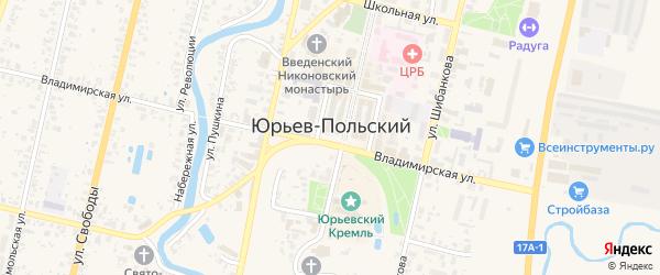 Переулок Бобкова на карте Юрьева-Польского с номерами домов