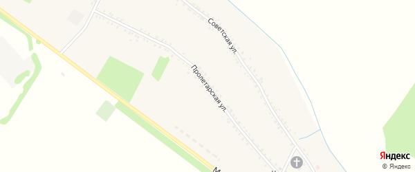Пролетарская улица на карте Еленовского села Адыгеи с номерами домов