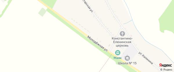 Молодежная улица на карте Еленовского села Адыгеи с номерами домов