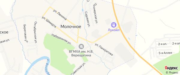 Карта Молочного села города Вологды в Вологодской области с улицами и номерами домов