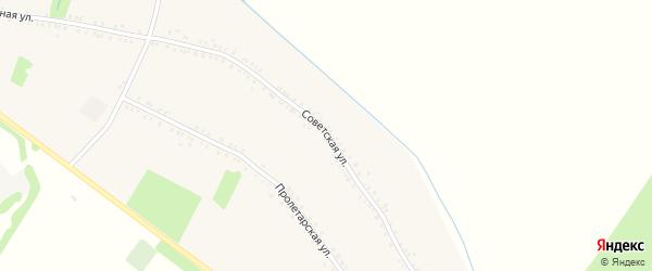 Советская улица на карте Еленовского села Адыгеи с номерами домов