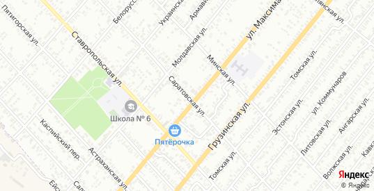 Саратовская улица в Батайске с номерами домов на карте. Спутник и схема онлайн