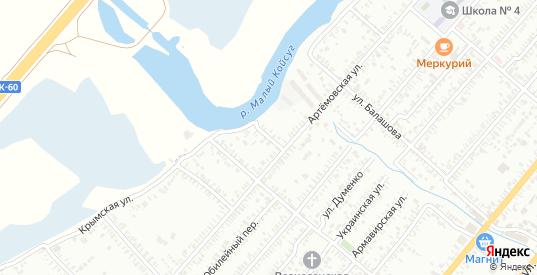 Переулок Дундича в Батайске с номерами домов на карте. Спутник и схема онлайн