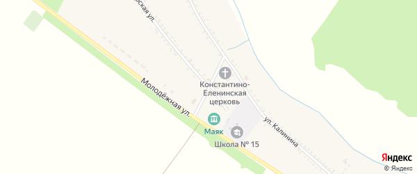 Советский переулок на карте Еленовского села с номерами домов