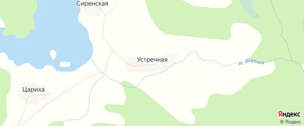 Карта Устречной деревни в Вологодской области с улицами и номерами домов