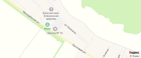 Улица Калинина на карте Еленовского села Адыгеи с номерами домов