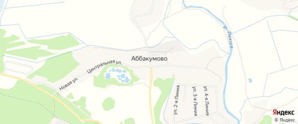 Карта деревни Аббакумово в Владимирской области с улицами и номерами домов