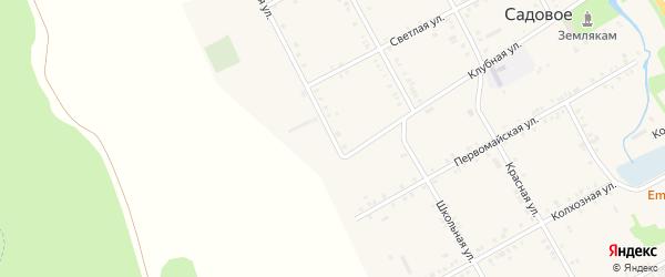 Зеленая улица на карте Садового села Адыгеи с номерами домов