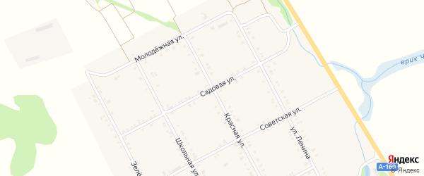 Садовая улица на карте Садового села Адыгеи с номерами домов