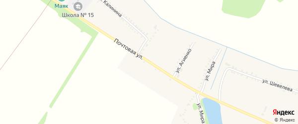 Почтовая улица на карте Еленовского села с номерами домов