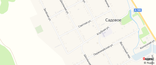Школьная улица на карте Садового села с номерами домов