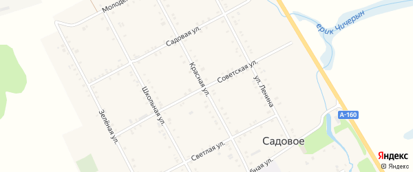 Советская улица на карте Садового села Адыгеи с номерами домов