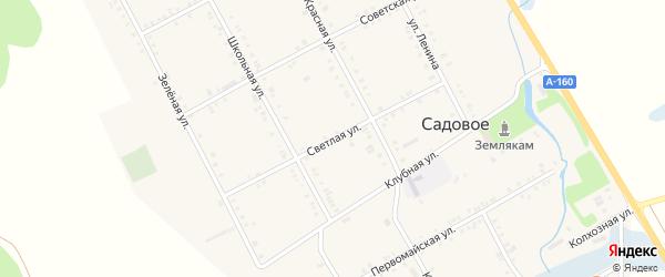 Светлая улица на карте Садового села Адыгеи с номерами домов