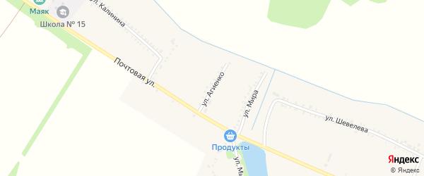 Улица Агиенко на карте Еленовского села Адыгеи с номерами домов