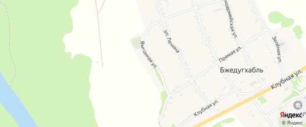 Выгонная улица на карте аула Бжедугхабля Адыгеи с номерами домов