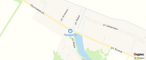 Улица Мира на карте Еленовского села с номерами домов