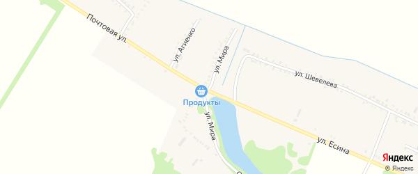 Улица Мира на карте Еленовского села Адыгеи с номерами домов