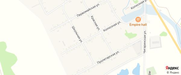 Колхозная улица на карте Садового села Адыгеи с номерами домов