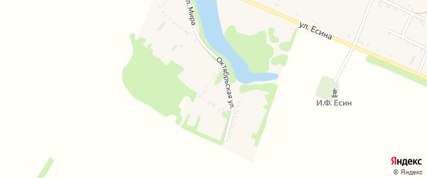 Октябрьская улица на карте Еленовского села Адыгеи с номерами домов