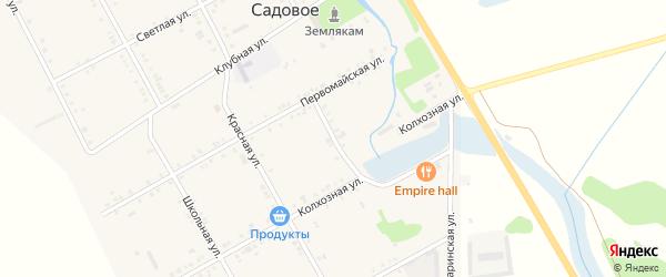 Восточный переулок на карте Садового села Адыгеи с номерами домов