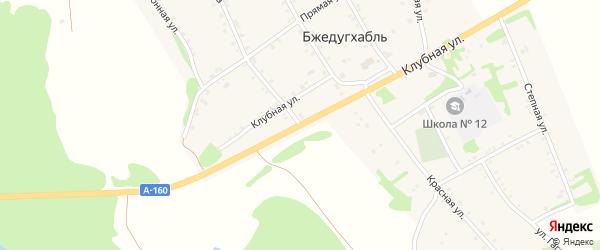 Улица Ленина на карте аула Бжедугхабля Адыгеи с номерами домов