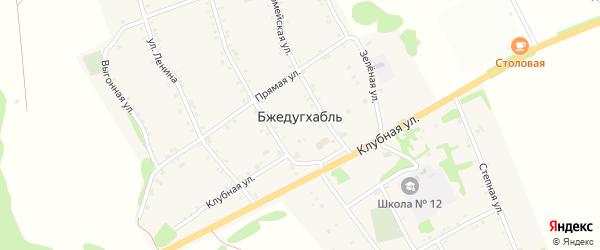 Дорога А/Д Энем-Адыгейск-Бжедугхабль на карте аула Бжедугхабля Адыгеи с номерами домов