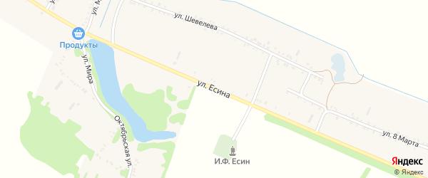 Улица Есина на карте Еленовского села Адыгеи с номерами домов