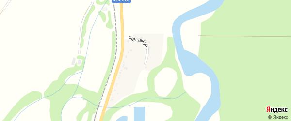 Речная улица на карте села Вперед Краснодарского края с номерами домов