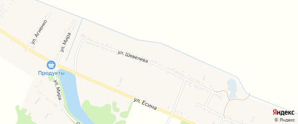 Улица Шевелева на карте Еленовского села Адыгеи с номерами домов