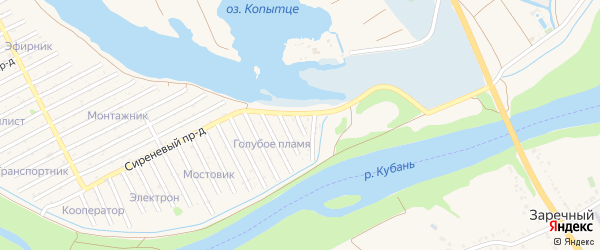 Проезд Ульянова на карте Усть-Лабинска с номерами домов