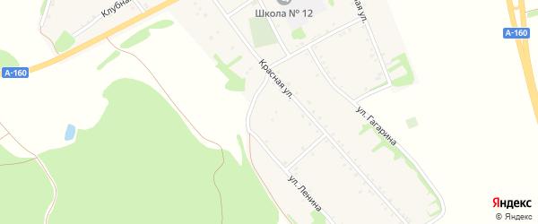 Пионерская улица на карте аула Бжедугхабля Адыгеи с номерами домов