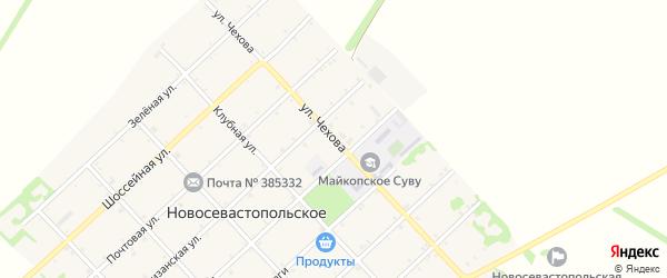 Улица Чехова на карте Новосевастопольского села с номерами домов