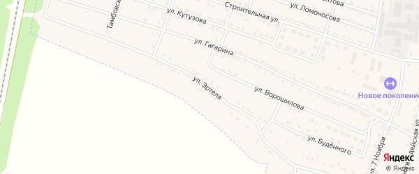 Улица Эртеля на карте Усмани с номерами домов