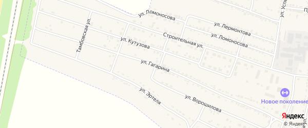 Улица Гагарина на карте Усмани с номерами домов