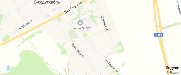 Пролетарская улица на карте аула Бжедугхабля Адыгеи с номерами домов