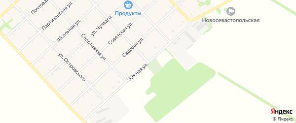 Южная улица на карте Новосевастопольского села Адыгеи с номерами домов