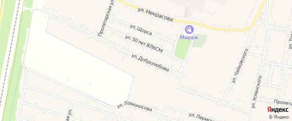 Улица Добролюбова на карте Усмани с номерами домов