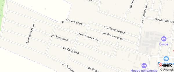 Строительная улица на карте Усмани с номерами домов