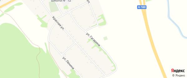 Улица Гагарина на карте аула Бжедугхабля Адыгеи с номерами домов