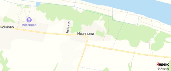 Карта деревни Иванчино в Рязанской области с улицами и номерами домов