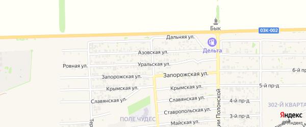 Уральская улица на карте Усть-Лабинска с номерами домов
