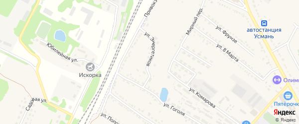 Улица Энергетиков на карте Усмани с номерами домов