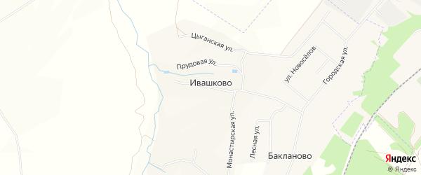 Карта деревни Ивашково в Рязанской области с улицами и номерами домов