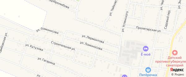 Улица Лермонтова на карте Усмани с номерами домов