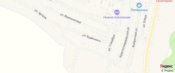 Улица Буденного на карте Усмани с номерами домов