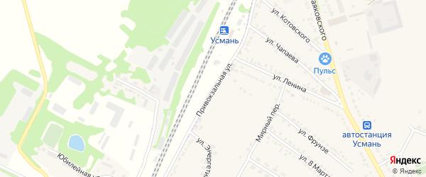 Привокзальная улица на карте Усмани с номерами домов