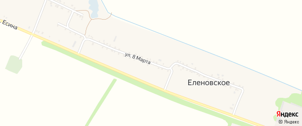 Улица 8 Марта на карте Еленовского села Адыгеи с номерами домов