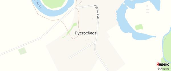Северная улица на карте хутора Пустоселова Адыгеи с номерами домов